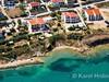 Apartmány Borka - letecký pohled, město Pag, ostrov Pag, Chorvatsko