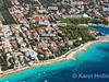 Apartmány Sandra - letecký pohled, Mandre, ostrov Pag, Chorvatsko