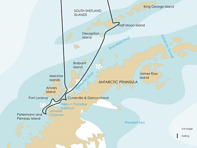 Antarktický poloostrov a Jižní Shetlandské ostrovy na lodi Hondius