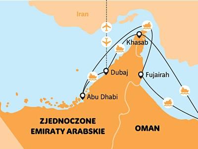 plavba podél pobřeží Arabských Emirátů - orientální ALL Inclusive