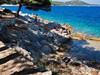 Apartmány Šanto - skalnaté pláže a betonová mola, Sali, ostrov Dugi Otok, Chorvatsko