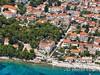 Apartmány Ocean, letecký pohled, Bol, ostrov Brač, Chorvatsko