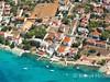 Apartmány Roni - letecký pohled, Stará Novalja, ostrov Pag, Chorvatsko