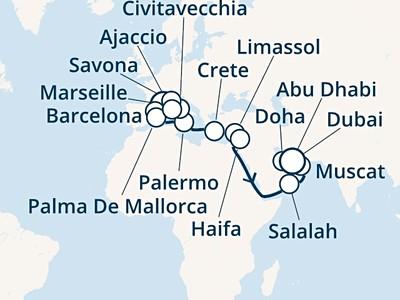 Costa Smeralda - Francie, Španělsko, Baleáry, Itálie, Korsika, Řec...