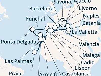 Costa Luminosa - Itálie, Korsika, Francie, Španělsko, Maroko, Kanár...