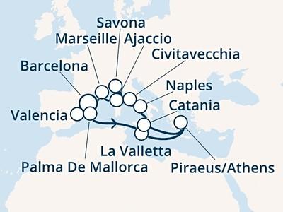 Costa Luminosa - Španělsko, Baleáry, Malta, Řecko, Itálie, Korsi...