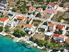 Apartmány Blaženka - letecký pohled, Stará Novalja, ostrov Pag, Chorvatsko
