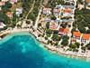 Apartmány Roza - letecký pohled, Mandre, ostrov Pag, Chorvatsko