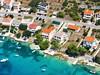 Apartmány Petra - letecký pohled, Stará Novalja, ostrov Pag, Chorvatsko