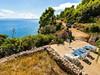 Apartmány Vlaho II - terasa s lehátky a krásným výhledem na moře, jižní zátoky, ostrov Hvar, Chorvatsko