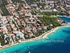 Apartmány Datković - letecký pohled, Mandre, ostrov Pag, Chorvatsko