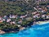 Apartmány Vedrana a písečná pláž Plažine (180 m) - letecký pohled, Tkon, ostrov Pašman, Chorvatsko