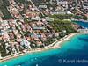Apartmány Mandre 12 - letecký pohled, Mandre, ostrov Pag, Chorvatsko