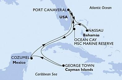 Msc Divina - Usa, Bahamy, Kajmanské ostrovy, Mexiko