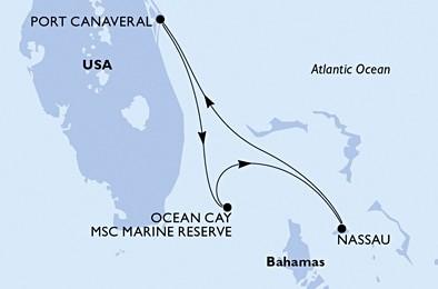 Msc Divina - USA,Bahamy
