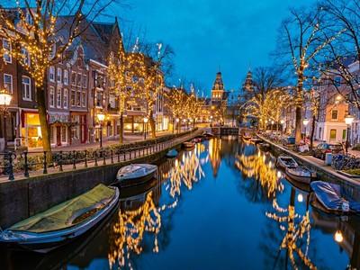 Adventní Amsterdam a festival světel